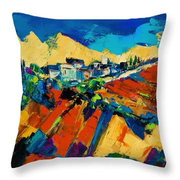 Tuscan Light Throw Pillow by Elise Palmigiani
