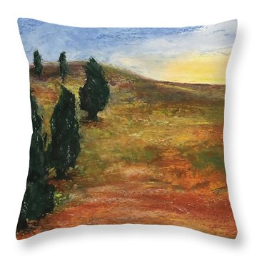 Tuscan Lights Throw Pillow