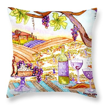Tuscan Living In Style Throw Pillow by Connie Valasco