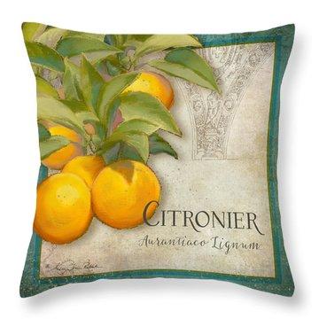 Tuscan Orange Tree - Citronier Aurantiaco Lignum Vintage Throw Pillow