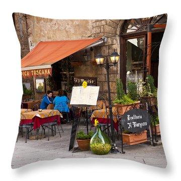 Tuscan Trattoria Throw Pillow by Rae Tucker