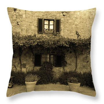 Tuscan Village Throw Pillow