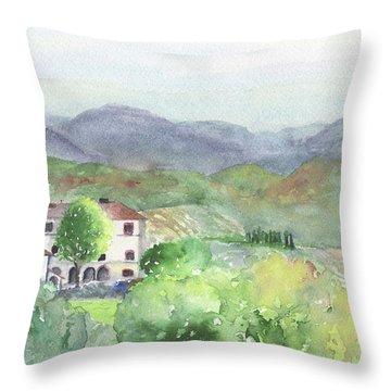 Tuscan Vineyards Throw Pillow