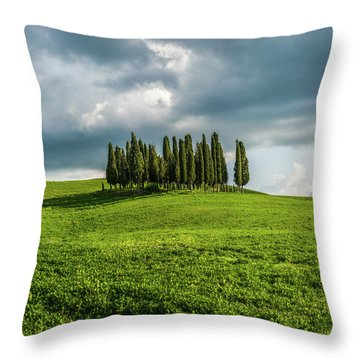 Tuscan Wonderland - Val D Orcia Throw Pillow