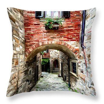 Tuscany Alley Throw Pillow