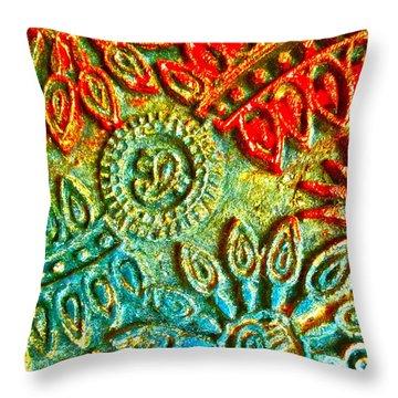 Tuscany Batik Throw Pillow by Gwyn Newcombe
