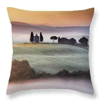 Tuscany Church On The Hill Throw Pillow by Evgeni Dinev