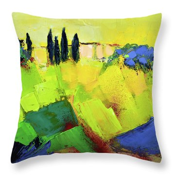Throw Pillow featuring the painting Tuscany Colors by Elise Palmigiani