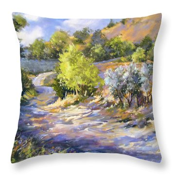 Throw Pillow featuring the painting Tuscany Hills by Rae Andrews