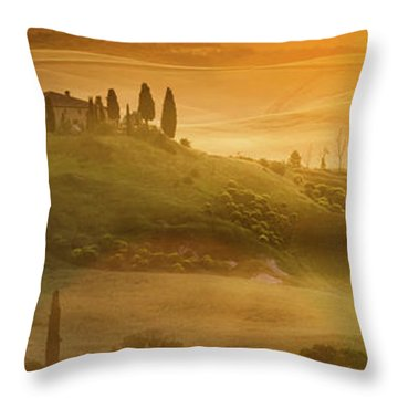 Tuscany In Golden Throw Pillow by Evgeni Dinev