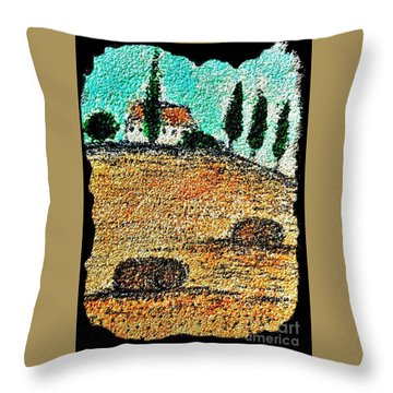 Tuscany  Throw Pillow by Jasna Gopic