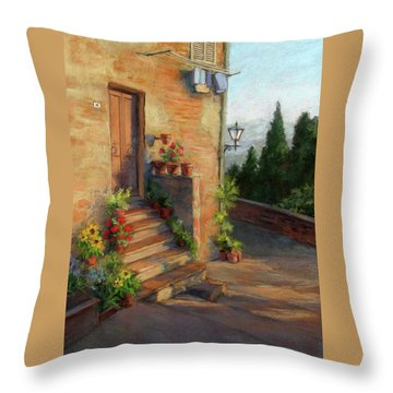 Tuscany Morning Light Throw Pillow