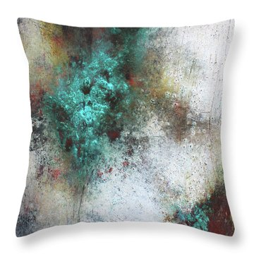 Tuscany Oil And Cold Wax Throw Pillow