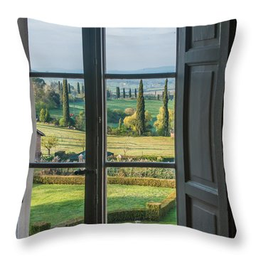 Tuscany Out My Window Throw Pillow