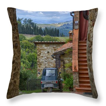 Tuscany Scooter Throw Pillow