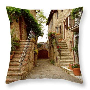 Tuscany Stairways Throw Pillow