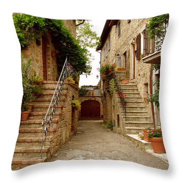 Tuscany Stairways Throw Pillow