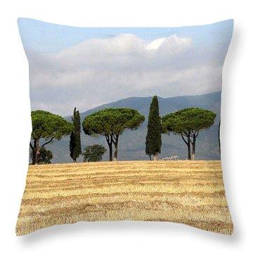 Tuscany Trees Throw Pillow