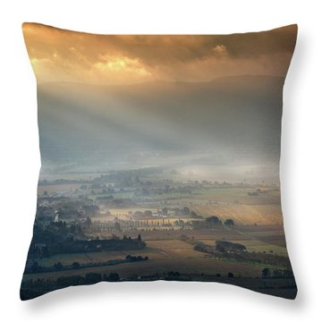 Tuscany Valley  Throw Pillow
