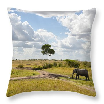 Tusker Scape Throw Pillow