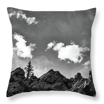 Tusas Canyon New Mexico Throw Pillow