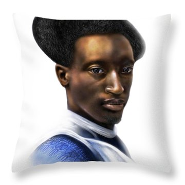 Tutsi Crown Throw Pillow