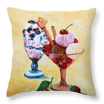 Tutti Frutti II Throw Pillow by Enzie Shahmiri