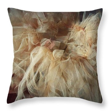 Tutu Throw Pillow by Judith Desrosiers