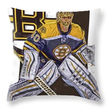 Tuukka Rask Boston Bruins Oil Art 1 Throw Pillow