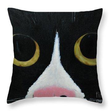 Tux Portrait  Throw Pillow