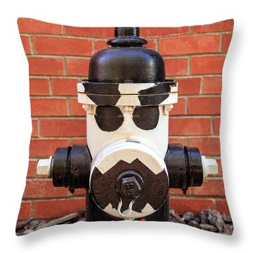 Throw Pillow featuring the photograph Tuxedo Hydrant by James Eddy