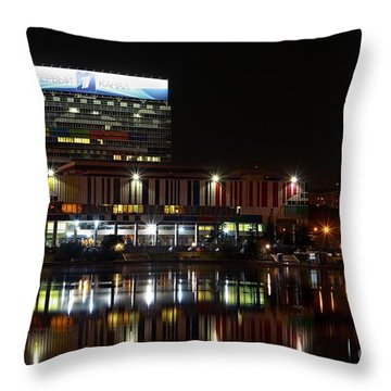 Tv Center Throw Pillow