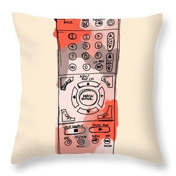 tv remote I Throw Pillow