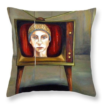 Tv Series 1 Throw Pillow by Leah Saulnier The Painting Maniac