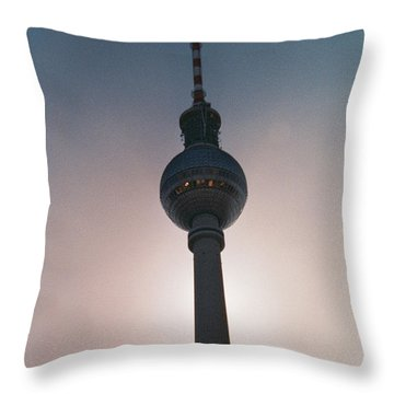 Tv Tower Berlin Throw Pillow