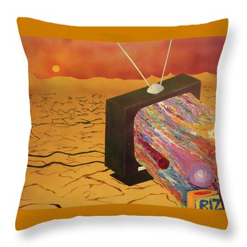 Tv Wasteland Throw Pillow by Thomas Blood