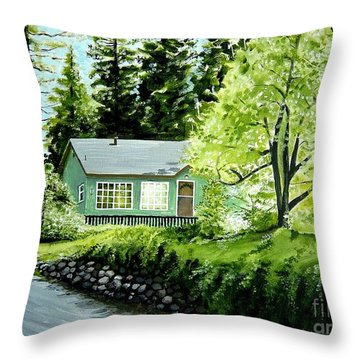 Throw Pillow featuring the painting Twaine Harte by Elizabeth Robinette Tyndall