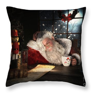 Throw Pillow featuring the digital art Twas The Night Before Christmas by Shanina Conway