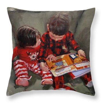 Twas The Night Before Throw Pillow by Laura Lee Zanghetti