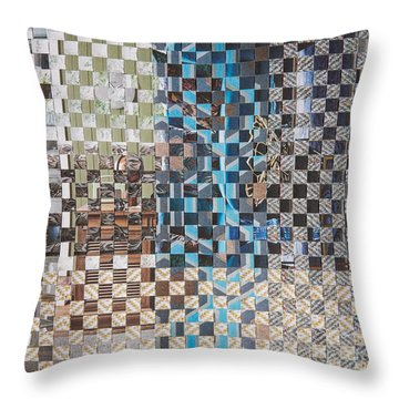 Throw Pillow featuring the mixed media Tweed by Jan Bickerton