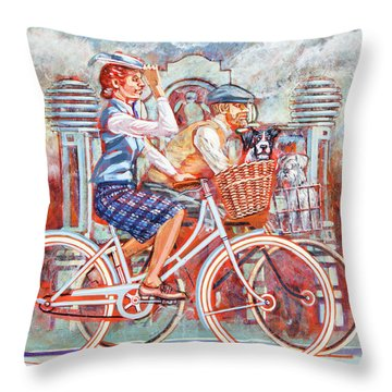 Tweed Runners On Pashleys Throw Pillow