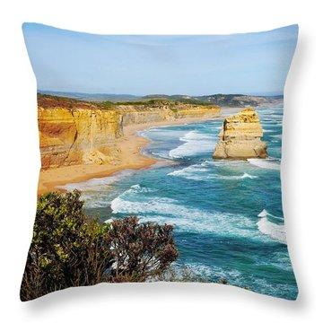Twelve Apostles Australia Throw Pillow