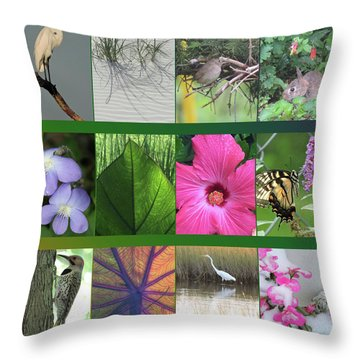 Throw Pillow featuring the photograph Twelve Months Of Nature by Peg Toliver