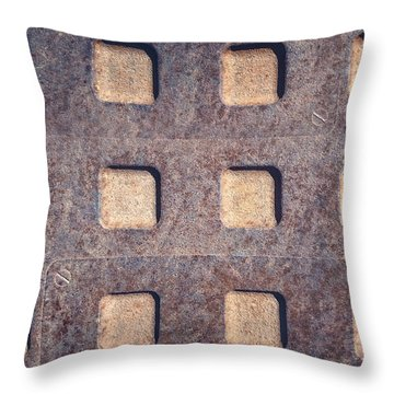 Twelve Squares Throw Pillow