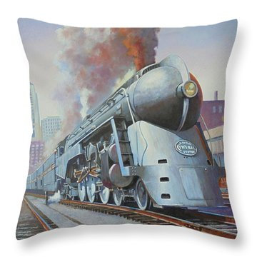 Twenthieth Century Limited Throw Pillow by Mike Jeffries