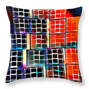 Twenty Four Boxes Throw Pillow