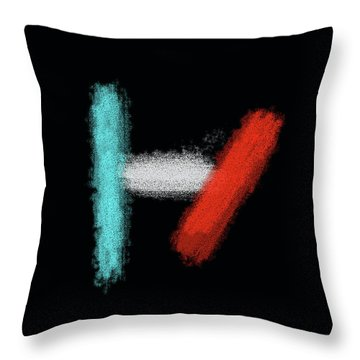 Twenty One Pilots Black Abstract Throw Pillow
