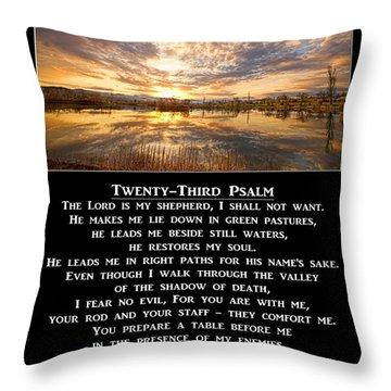 Twenty-third Psalm Prayer Throw Pillow