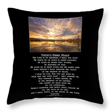 Twenty-third Psalm Prayer Throw Pillow
