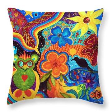 Bluebird Of Happiness Throw Pillow by Marina Petro